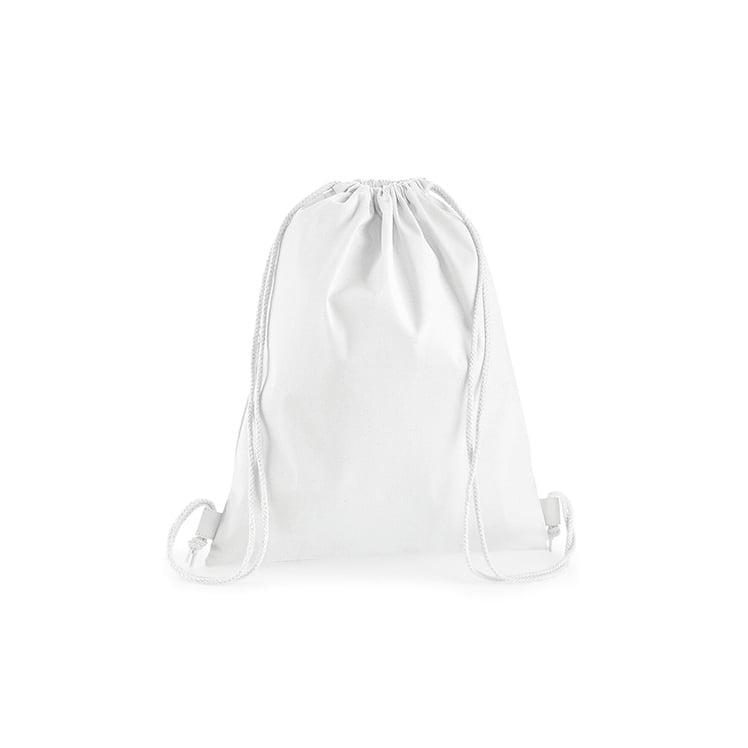 Torby i plecaki - Premium Cotton Gymsac - W210 - White - RAVEN - koszulki reklamowe z nadrukiem, odzież reklamowa i gastronomiczna