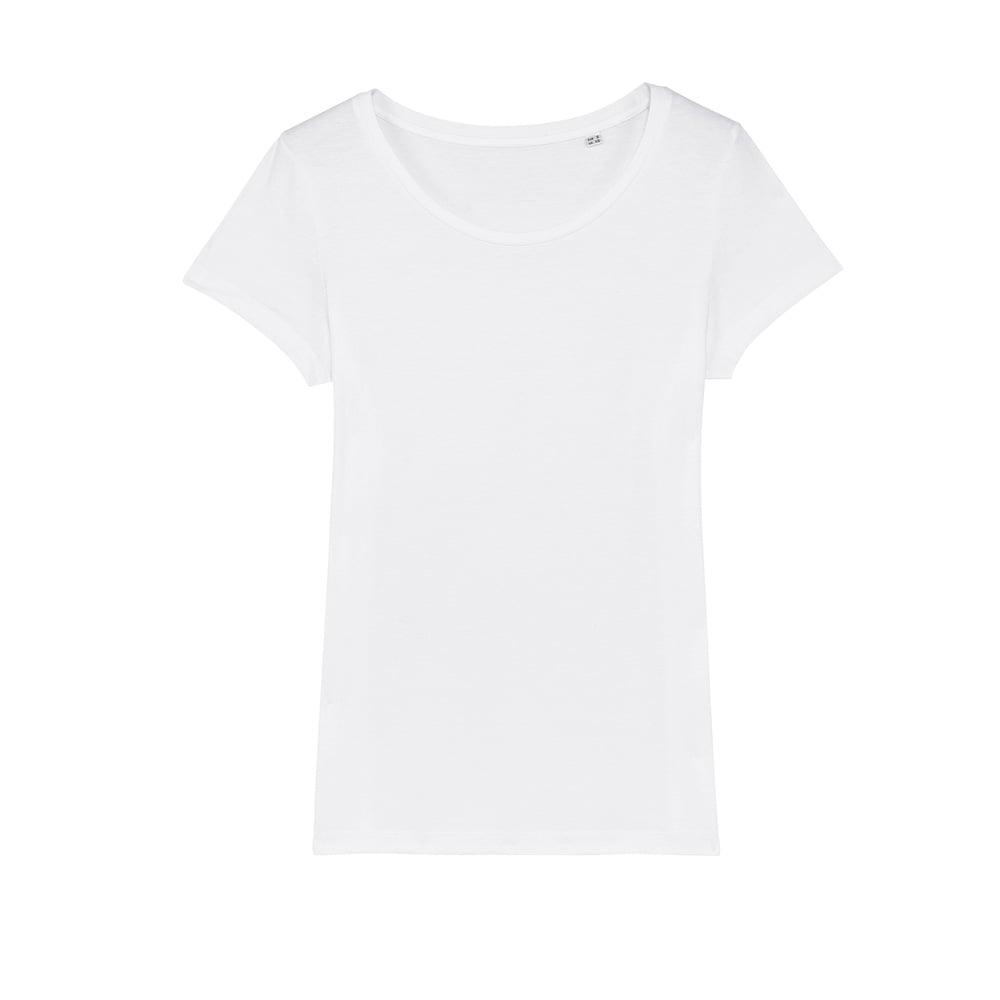 Koszulki T-Shirt - Damski T-shirt Stella Lover - STTW017 - White - RAVEN - koszulki reklamowe z nadrukiem, odzież reklamowa i gastronomiczna