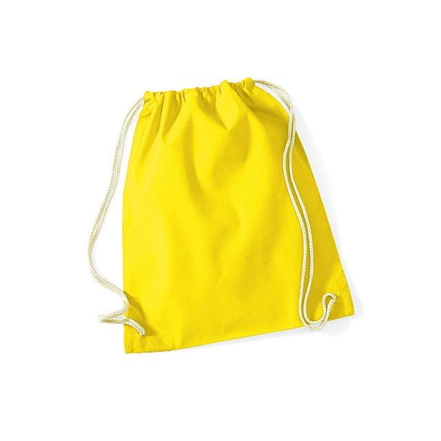 Torby i plecaki - Worek festiwalowy Cotton Gym - W110 - Yellow - RAVEN - koszulki reklamowe z nadrukiem, odzież reklamowa i gastronomiczna