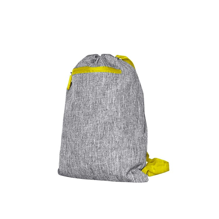 Torby i plecaki - Gymsac - Miami - DTG-15391 - Grey Melange/Yellow - RAVEN - koszulki reklamowe z nadrukiem, odzież reklamowa i gastronomiczna