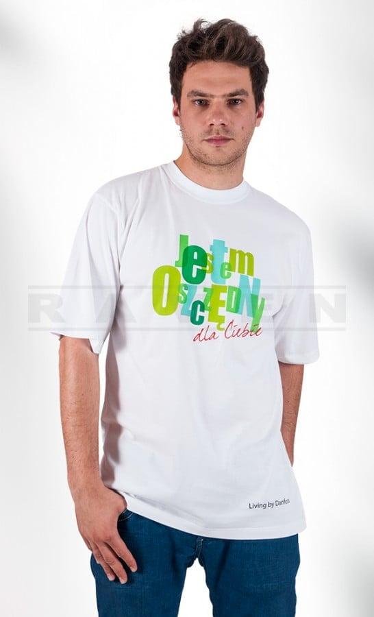 T-shirt z haftem reklamowym biały - blog - RAVEN