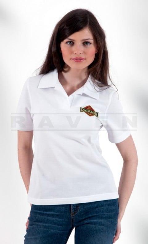 Koszulka-polo-robocza-biała-RAVEN